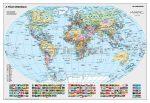 A Föld országai falitérkép 100*70 cm - tűzdelhető keretezett