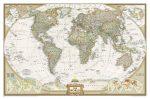 A Világ (The World) falitérkép 117*77 cm - laminált vagy lécezett