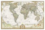 A Világ (The World) falitérkép 117*77 cm - tűzdelhető keretezett