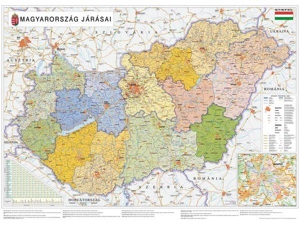 Magyarország Járások Térképen Régiók Megyék Járások