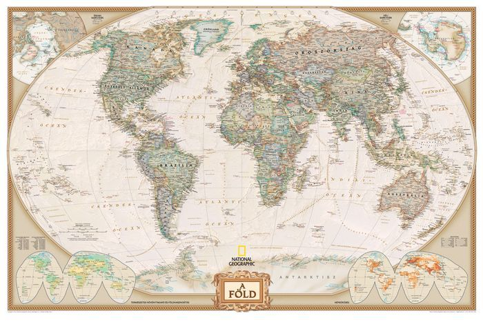 A Föld falitérkép 107*72 cm - íves papír