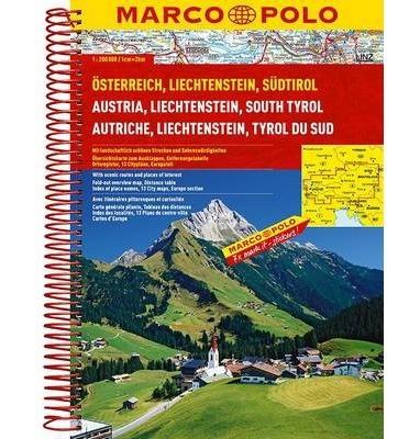 Österreich - Liechtenstein - Südtirol atlasz