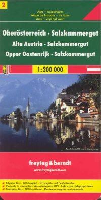 Felső-Ausztria, Salzkammergut autótérkép (2)