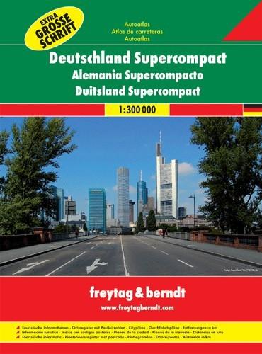Németország szuper útvonaltervező atlasz