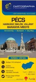 Pécs, Harkány, Siklós, Villány várostérkép (+Baranya megye térképe)