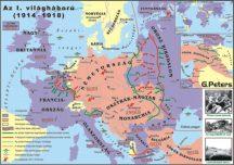Az I. világháború  140*100 cm - laminált, faléces