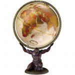 Földgömb - antik, 30 cm átmérőjű - ATLAS