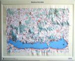 Balaton-felvidék domború térkép