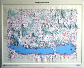 Balaton-felvidék domború térkép (keretezett)