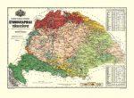 A Magyar Szent Korona országainak ethnographiai térképe 92*68 cm - mágnessel jelölhető, keretezett