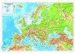 Európa domborzata 65*45 cm - fémléces