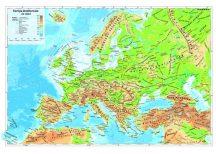 Európa domborzata 65*45 cm - asztali könyöklő