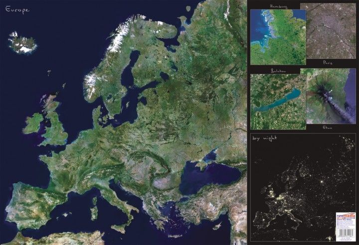 műholdas térkép magyarország 2012 Európa műholdas térképe 65*45 cm   asztali könyöklő   A Lurdy Ház  műholdas térkép magyarország 2012