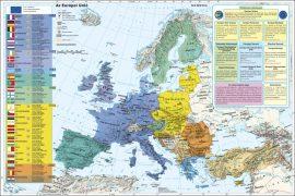 Az Európai Unió falitérképe - fémléces