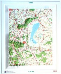 Fertő domború térkép (keretezett)
