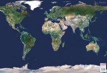 Föld műholdas térképe 65*45 cm - asztali könyöklő