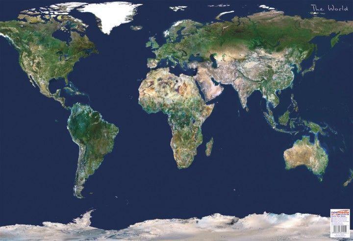 műhold térkép magyarország 2014 Föld műholdas térképe 65*45 cm   asztali könyöklő   A Lurdy Ház  műhold térkép magyarország 2014