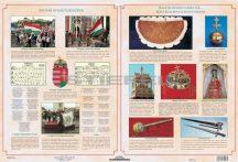Magyar nemzeti jelképek / Magyar nemzeti ereklyék tabló 65*45 cm könyöklő