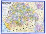 Magyarország a Hunyadiak és a Jagellók korában falitérkép 160*120 cm - laminált, faléces