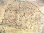 Magyarország borászati térképe 1884  falitérkép 100*70 cm - mágneses keretezett