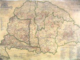 Magyarország borászati térképe 1884  falitérkép 100*70 cm - íves papír