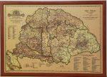 Magyarország borászati térképe 1884  falitérkép 100*70 cm - tűzdelhető keretezett