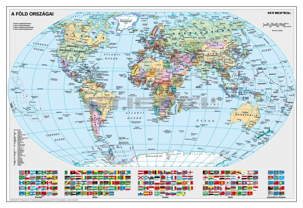 föld országai térkép A Föld országai falitérkép 100*70 cm   tűzdelhető keretezett   A  föld országai térkép