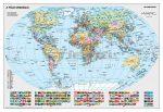 A Föld országai falitérkép 140*100 cm - fóliás, alul-felül fémléces