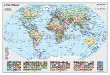A Föld országai falitérkép 65*45 cm - fóliás, alul-felül fémléces