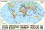 A Föld országai / Gyermek világtérkép - fóliázott könyöklő