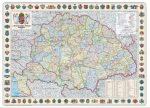 A Magyar Szent Korona Országai falitérkép 1914 126*86 cm - térképtűvel szúrható, keretezett