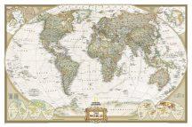 A Világ (The World) falitérkép 90*60 cm - térképtűvel szúrható, keretezett