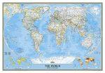 A Világ (The World) falitérkép 175*122 cm - mágneses keretezett