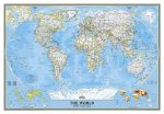 A Világ (The World) falitérkép 175*122 cm - íves papír