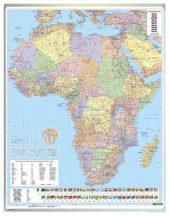 Afrika közigazgatás falitérkép 99*125 cm - laminált vagy lécezett