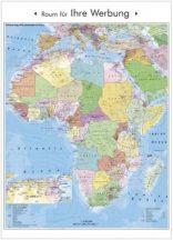 Afrika politikai és irányítószámos falitérképe 100*140 cm - lécezett
