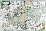 Európa  térkép 1700 (fóliázott könyöklő)