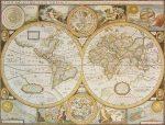 Antik Világ 1651 falitérkép 92*72 cm - keretezett
