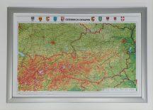 Ausztria domború térkép