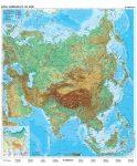 Ázsia, domborzati + politikai DUO , 180*140 cm, laminált, faléces