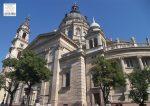 Bazilika asztali alátét könyöklő + hátoldalon Budapest belváros térkép
