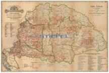 Régi Magyarország 1876 borászati térkép 65*45 cm - asztali könyöklő