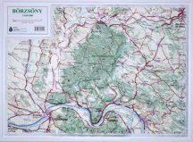 Börzsöny domború térkép