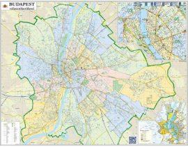 Budapest országgyűlési választókerületeinek falitérképe 2014 - fémléces