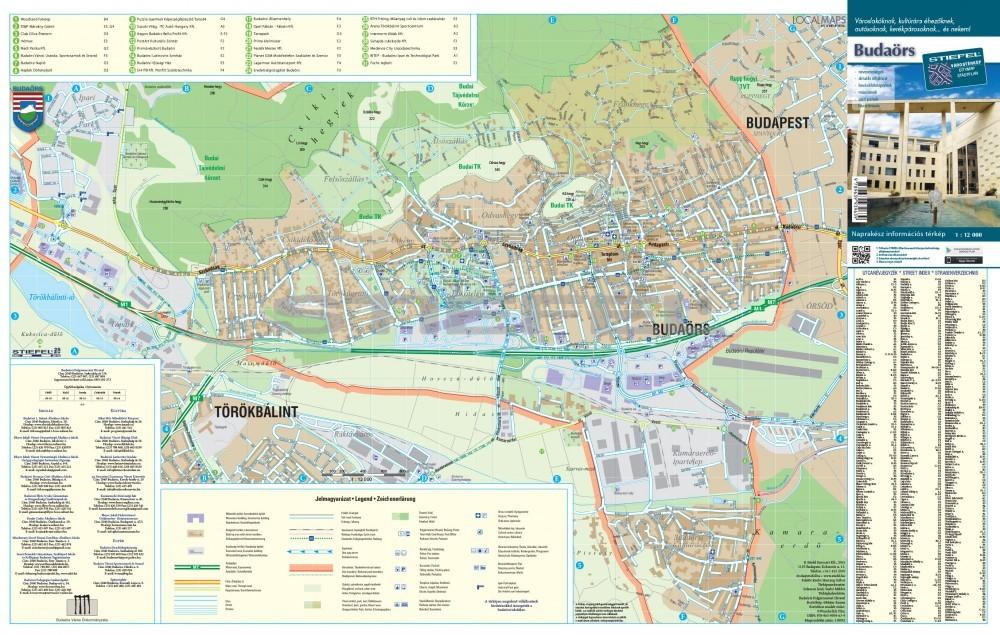 budaörs térkép részletes Budaörs   hajtogatott várostérkép   A Lurdy Ház Térképbolt,Tel:456
