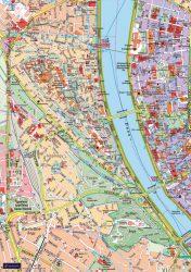 Budapesti kerületek falitérképei - EGYEDI NYOMTATÁS - 120*86 cm - térképtűvel szúrható, keretezett