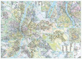 Budapest falitérkép 122*86 cm - 2020-as kiadás