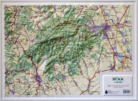 Bükk domború térkép (keretezett)