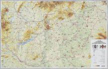 Magyarország domború térképe (keretezett)