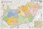 Magyarország közigazgatása a járásokkal 65*45 cm - térképtűvel szúrható, keretezett